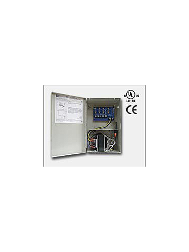 Altronix ALTV244175UL Four (4) fuse protected outputs. 24VAC @ 7 amp (175VA) or 28VAC @ 6.25 amp (175VA), 115VAC input. Grey enclosure. UL Listed (UL2044) CUL Listed and CE Approved.