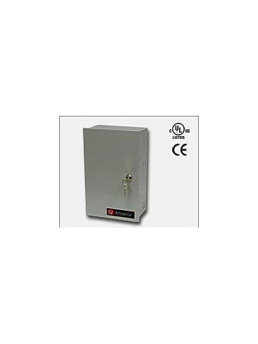 Altronix ALTV244175ULCB Four (4) PTC protected Class 2 Rated power limited outputs. 24VAC @ 7 amp (175VA) or 28VAC @ 6.25 amp (175VA), 115VAC input. Grey enclosure. UL Listed (UL2044) CUL Listed and CE Approved.
